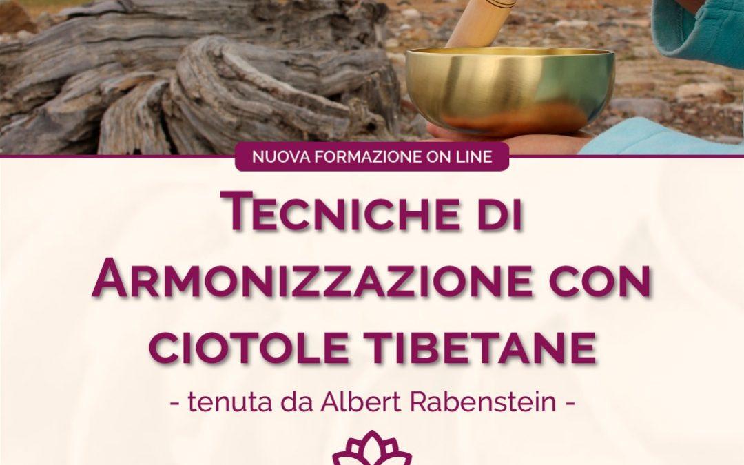 Tecniche di Armonizzazione con le ciotole tibetane, formazione online con Albert Rabenstein